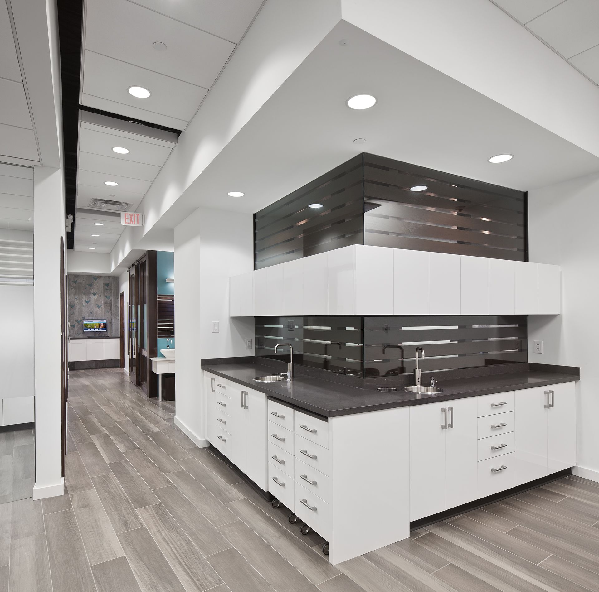 Tasios Orthodontics - Open Bay Cabinetry