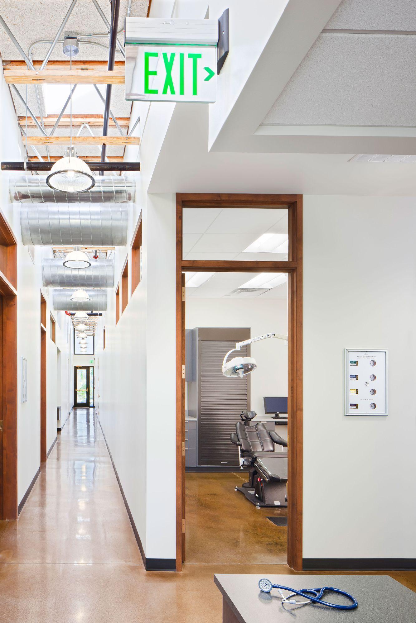 Golden Center Hallway